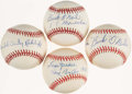 Autographs:Baseballs, Negro League Greats Single Signed Baseballs Lot of 4. ...
