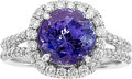 Estate Jewelry:Rings, Tanzanite, Diamond, White Gold Ring . ...