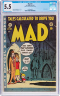 Golden Age (1938-1955):Humor, MAD #1 Bill Elder File Copy (EC, 1952) CGC FN- 5.5 Cream tooff-white pages....