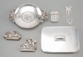Silver Holloware, Continental:Holloware, Six Silver and Silver-Plated Automobilia-Related Articles, early20th century and later. Marks: (various). 3-1/8 inches high...(Total: 6 Items)