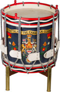 Decorative Arts, British:Other , A First Battalion Canadian Guards Drum on Stand, second half 20thcentury. 22-1/8 inches high x 17 inches wide (56.2 x 43.2 ...
