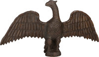 An American Folk Art Carved Pine Eagle in the Manner of Wilhelm Schimmel, 19th century 20-1/4 inches high x 38-1/2