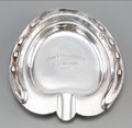 Silver Holloware, American:Other , A Seabiscuit-Related Silver Ashtray Mounted with Silver-PlatedHorseshoe: Yonkers Handicap 1937. Marks: STERLING...