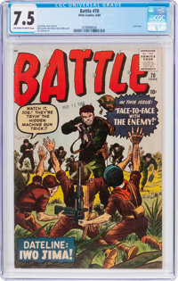 Battle #70 (Marvel, 1960) CGC VF- 7.5 Off-white to white pages