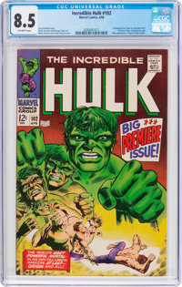 The Incredible Hulk #102 (Marvel, 1968) CGC VF+ 8.5 Off-white pages
