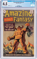 Silver Age (1956-1969):Science Fiction, Amazing Adult Fantasy #9 (Marvel, 1962) CGC VG+ 4.5 Cream to off-white pages....