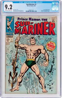 The Sub-Mariner #1 (Marvel, 1968) CGC NM- 9.2 Off-white to white pages