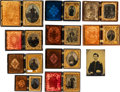Militaria:Ephemera, Superb Lot of 11 Mainly Tintype Images of Union Officers andSoldiers....