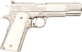 Handguns:Semiautomatic Pistol, Engraved Colt Gold Cup National Match MK IV Series '70 Semi-Automatic Pistol....