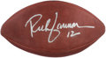 Football Collectibles:Balls, Rich Gannon Signed Leather Wilson Football. ...