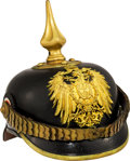 Militaria:Helmets, German Colonial Gendarmerie Non-Commissioned Officer's Spiked Helmet....