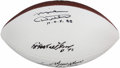 Football Collectibles:Balls, Football Greats Multi-Signed Footballs - Includes Ditka, Renfro, & Stabler. ...
