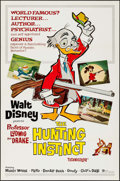 "Movie Posters:Animation, The Hunting Instinct (Buena Vista, 1961). Flat Folded One Sheet(27"" X 41""). Animation.. ..."
