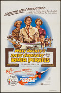 "Movie Posters:Adventure, Davy Crockett and the River Pirates (Buena Vista, 1956). FlatFolded One Sheet (27"" X 41""). Adventure.. ..."