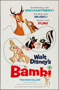 "Movie Posters:Animation, Bambi & Other Lot (Buena Vista, R-1966). Flat Folded One Sheets(2) (27"" X 41""). Animation.. ... (Total: 2 Items)"