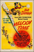 "Movie Posters:Animation, Melody Time (RKO, 1948). Flat Folded One Sheet (27"" X 41"").Animation.. ..."