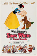 "Movie Posters:Animation, Snow White and the Seven Dwarfs (Buena Vista, R-1967/R-1975). Flat Folded One Sheets (2) (27"" X 41""). Animation.. ... (Total: 2 Items)"