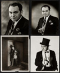 """Movie Posters:Miscellaneous, Edward G. Robinson by Elmer Fryer & Other (Warner Brothers, 1930s). Portrait Photos (4) (7.5"""" X 9.5"""" & 8"""" X 10""""). Miscellane... (Total: 4 Items)"""