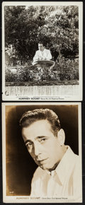 """Movie Posters:Miscellaneous, Humphrey Bogart Lot (Warner Brothers, c. Late 1930s - Early 1940s). Portrait Photos (2) (8"""" X 10""""). Miscellaneous.. ... (Total: 2 Items)"""