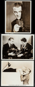 """Movie Posters:Crime, Picture Snatcher (Warner Brothers, 1933). Photos (3) (8"""" X 10""""). Crime.. ..."""