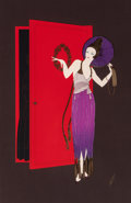 Fine Art - Work on Paper:Print, Erté (Romain de Tirtoff) (Russian/French, 1892-1990). New Year'sEve, 1990. Screenprint in colors. 34 x 22-7/8 inches (8...