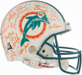 Football Collectibles:Helmets, 1972 Miami Dolphins Team Signed Helmet - Undefeated Season! ...