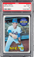Baseball Cards:Singles (1960-1969), 1969 Topps Nolan Ryan #533 PSA NM-MT 8....