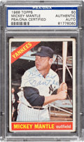 Autographs:Sports Cards, Signed 1966 Topps Mickey Mantle #50 SGC Authentic....