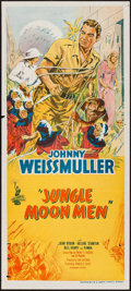 "Movie Posters:Science Fiction, Jungle Moon Men (Columbia, 1955). Australian Daybill (13"" X 30"").Science Fiction.. ..."
