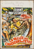 "Movie Posters:Adventure, Valley of Head Hunters (Columbia, 1953). Belgian (14.5"" X 21"").Adventure.. ..."