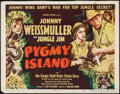 """Movie Posters:Adventure, Jungle Jim in Pygmy Island (Columbia, 1950). Trimmed Half Sheet(21.75"""" X 28"""") Style A. Adventure.. ..."""