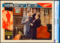 "The Maltese Falcon (Warner Brothers, 1931). CGC Graded Lobby Card (11"" X 14"")"