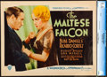 "Movie Posters:Film Noir, The Maltese Falcon (Warner Brothers, 1931). Title Lobby Card (11"" X14"").. ..."