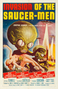 "Movie Posters:Science Fiction, Invasion of the Saucer-Men (American International, 1957). One Sheet (27"" X 41"") Albert Kallis Artwork.. ..."