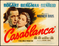 "Casablanca (Warner Brothers, 1942). Title Lobby Card (11"" X 14"")"