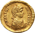 Ancients:Roman Imperial, Ancients: Valentinian II (AD 375-392).AV solidus (21mm, 4.44 gm). About VF, graffito....