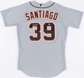 Baseball Collectibles:Uniforms, 2009 Ramon Santiago Game Worn & Signed Detroit Tigers Jersey....