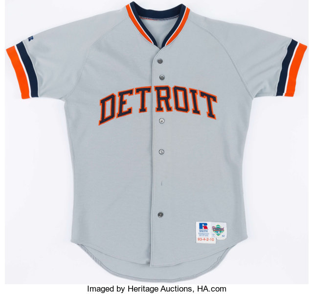 official photos 3ecb6 7423e 1993 Tony Phillips Game Worn Detroit Tigers Jersey ...