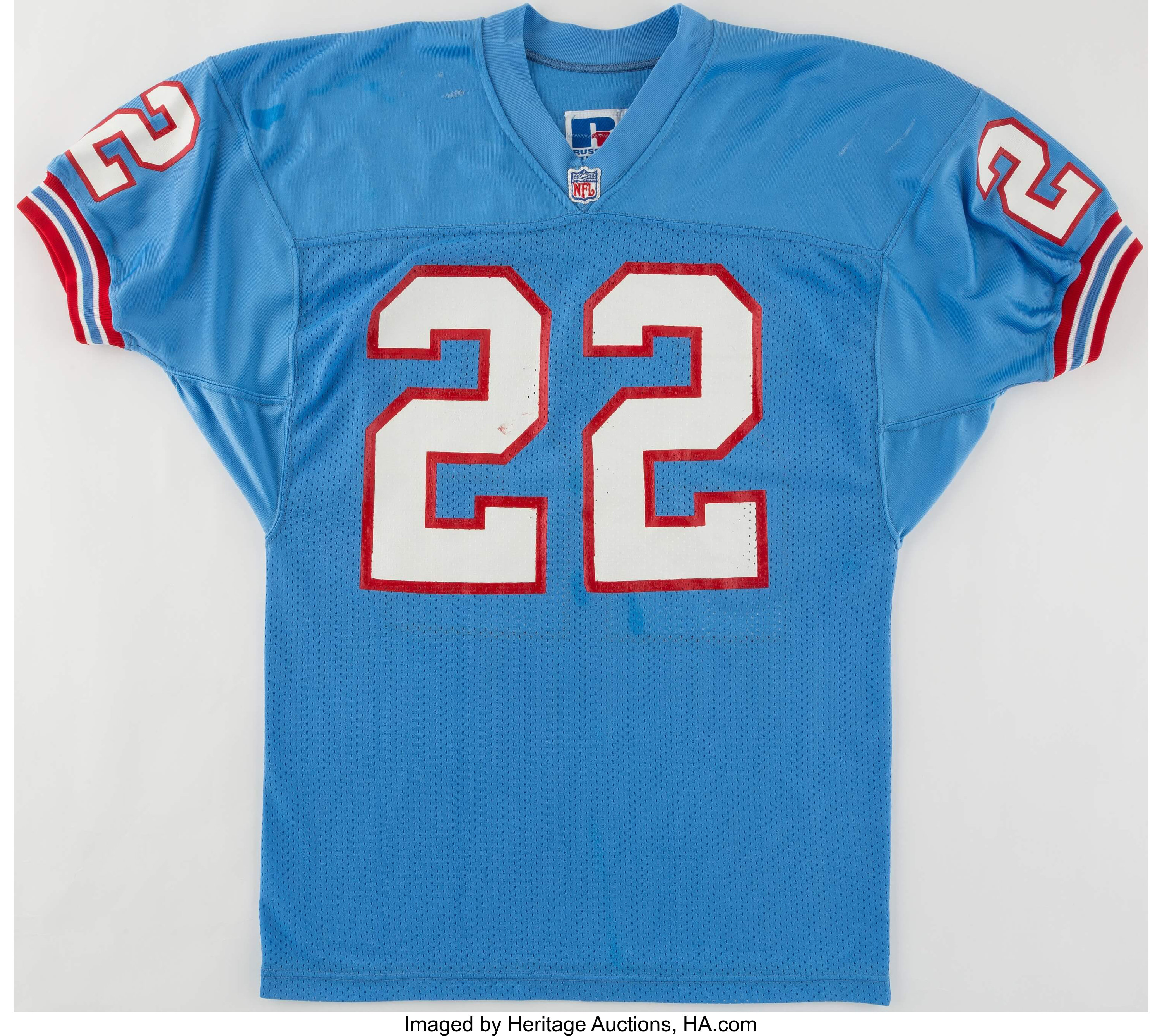 1990 Reider Houston Oilers Game Worn Jersey Football Lot 43238 Heritage Auctions