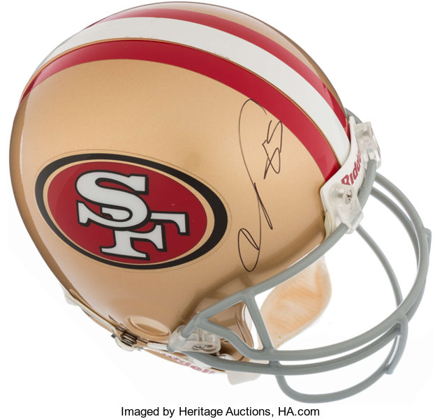 aac01a1f9 Vernon Davis Signed Full Sized San Francisco 49ers Helmet....