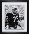Football Collectibles:Photos, Forrest Gregg Signed Photograph Display. ...