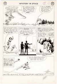 Carmine Infantino and Joe Giella Mystery in Space #84 Story Page 7 Original Art (DC Comics, 1963)