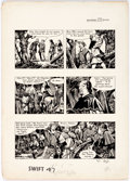 "Original Comic Art:Panel Pages, Frank Bellamy Swift Vol. 3 #47 ""Robin Hood,"" Episode 29,Page 2 Original Art (Hulton Press, 1956)...."