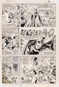 Original Comic Art:Panel Pages, Don Perlin and Mike Gustovich The Defenders #112 Story Page 6 Original Art (Marvel Comics, 1982)....