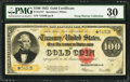 Large Size:Gold Certificates, Fr. 1215* $100 1922 Gold Certificate PMG Very Fine 30.. ...
