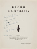 Autographs:U.S. Presidents, John F. Kennedy Inscribed Russian Fable....