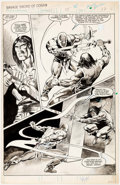 Original Comic Art:Splash Pages, Val Mayerik The Savage Sword of Conan #94 Splash Page 37Original Art (Marvel Comics, 1983)....