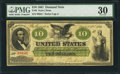 Large Size:Demand Notes, Fr. 6 $10 1861 Demand Note PMG Very Fine 30.. ...