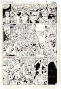 Original Comic Art:Panel Pages, George Perez Crisis on Infinite Earths #3 Story Page 21Original Art (DC, 1985)....