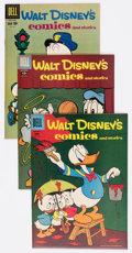 Golden Age (1938-1955):Cartoon Character, Walt Disney's Comics and Stories Group of 4 (Dell, 1957-62)Condition: Average VF-.... (Total: 4 Comic Books)